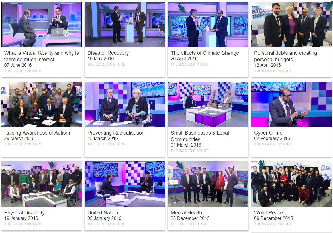 The Bigger Picture 12 Programmes